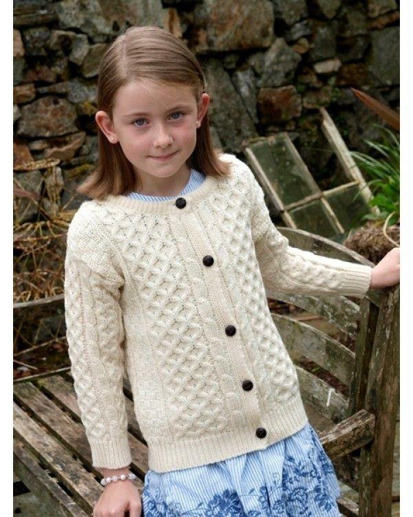 Child's Wool Crew Neck Cardigan