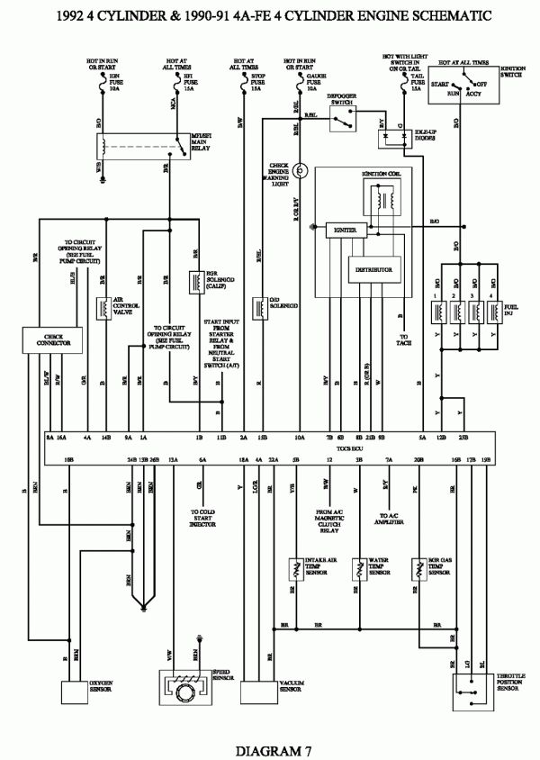 Toyota 5a Engine Wiring Diagram And Repair Guides 12 Toyota 5a Engine Wiring Diagram Wiringg Net In 2021 Toyota Corolla Toyota Repair Guide