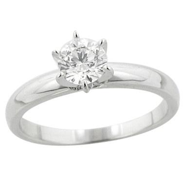 18K Gold 0.70 Carat Diamond 6 Claw Solitaire Ring    #ilovetoshop