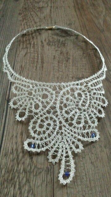 Necklace - bobbin lace with swarovski elements