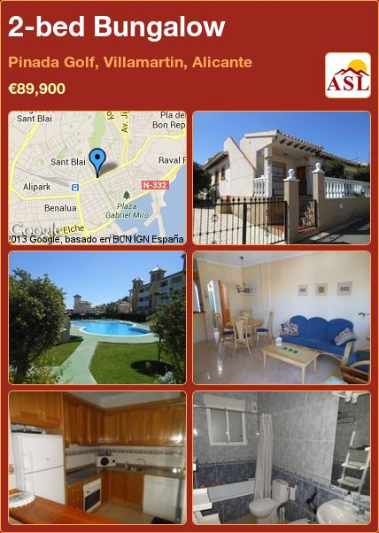 2-bed Bungalow in Pinada Golf, Villamartin, Alicante ►€89,900 #PropertyForSaleInSpain