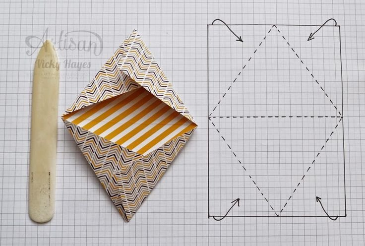 Moonlight DSP triangular treat pouches - Stampin' Up artisan blog hop