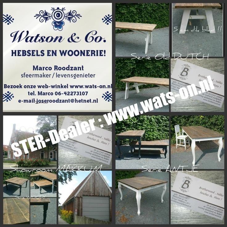 Prachtig Ambachtelijke tafels op maat voor U gemaakt !   Te bewonderen in onze winkel , of op onze website www.wats-on.nl