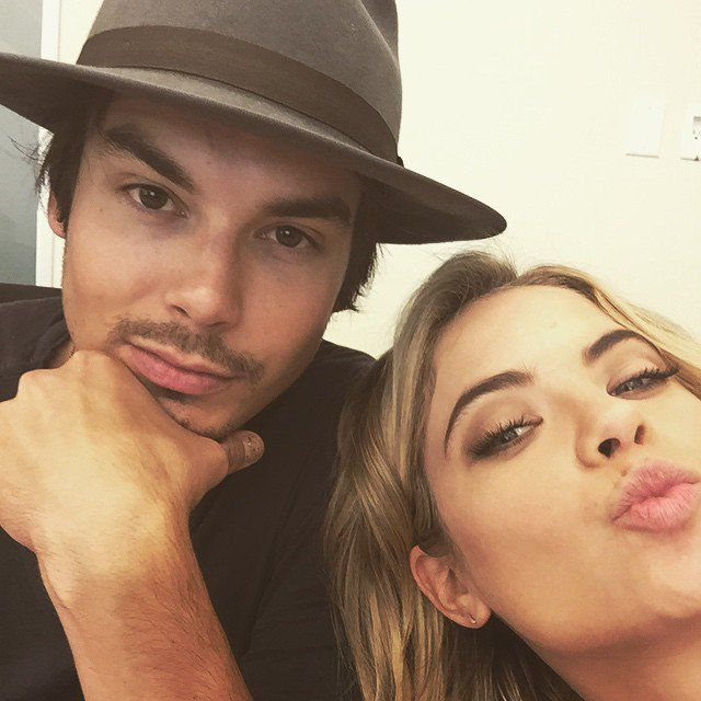 Pin for Later: This Week's Cutest Celebrity Candids Ashley Benson Ashley Benson cozied up to her Pretty Little Liars costar Tyler Blackburn.