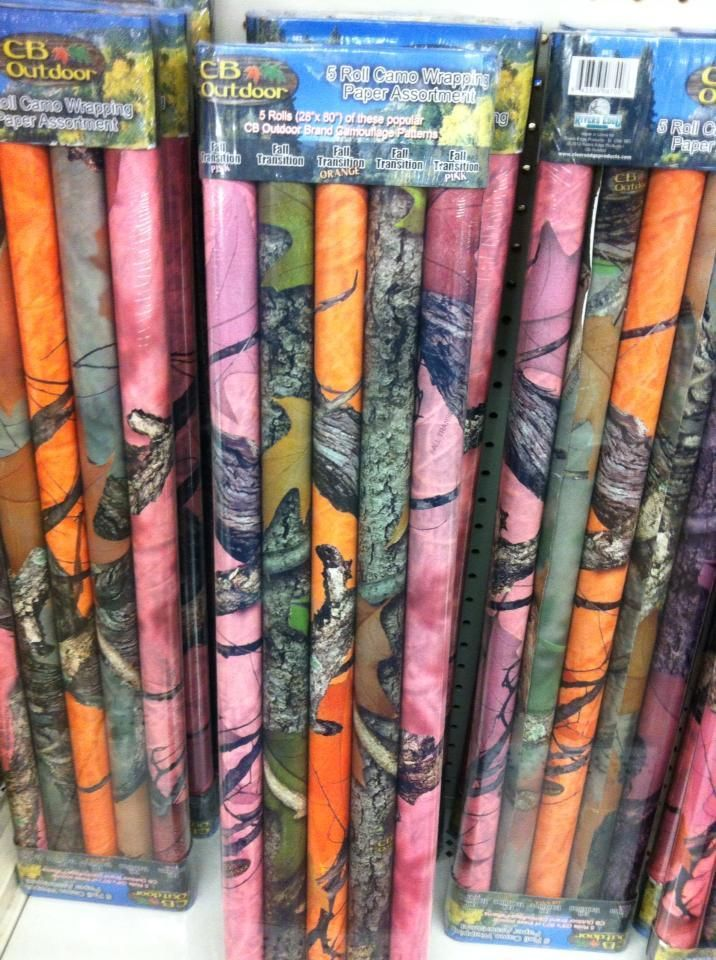 Camo Celebrations  - Assorted Camo Wrapping Paper 5-Pack