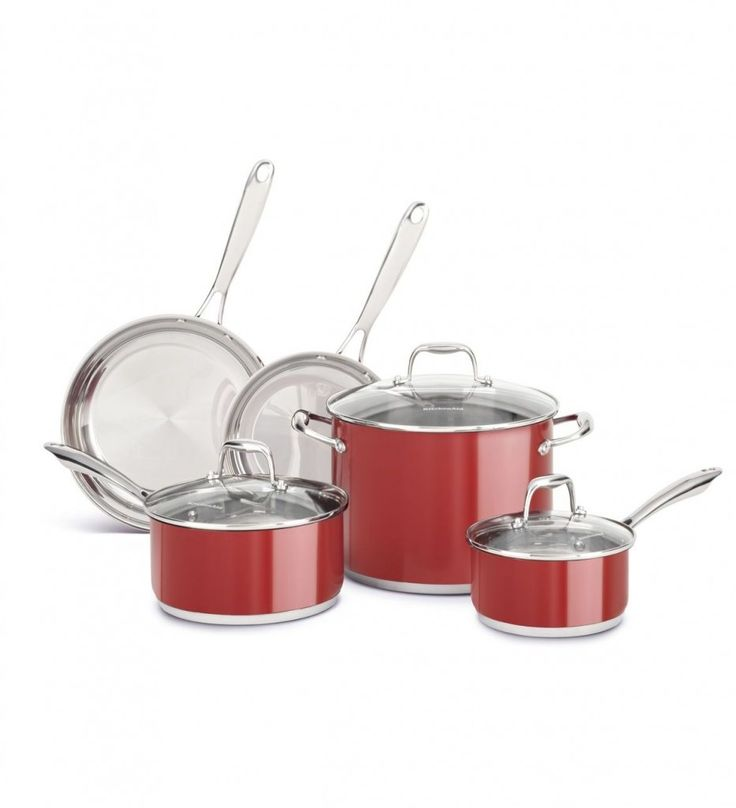 Kitchen Aid Stainless Steel 8 Piece Set Great Model