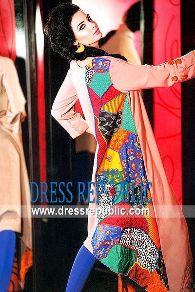 Beige Sularia, Product code: DR8829, by www.dressrepublic.com - Keywords: Casual Dresses 2013 Collection, Casualwear Shalwar Kameez Dresses Pakistan 2013