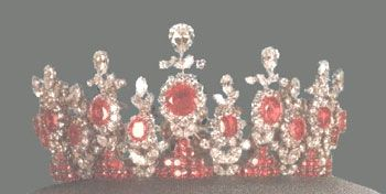 The tiara of Princess Ashraf Pahlavi - the twin sister of the last Shah of Iran.