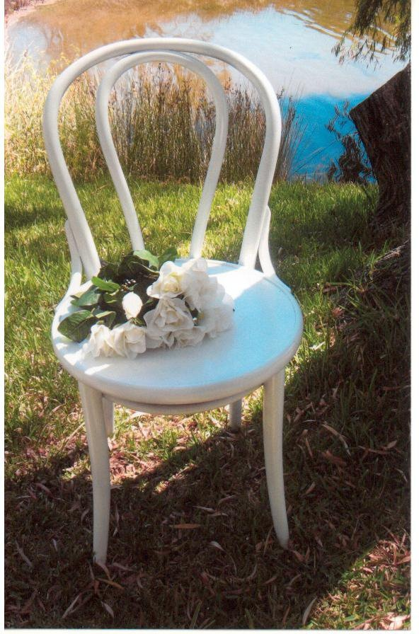 Our white bentwood chairs were used at Mary & Stewarts Wedding.  Margaret River  WA  www.capeoflove.com