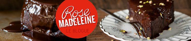 Cheesecake au chocolat et caramel - Rose Madeleine