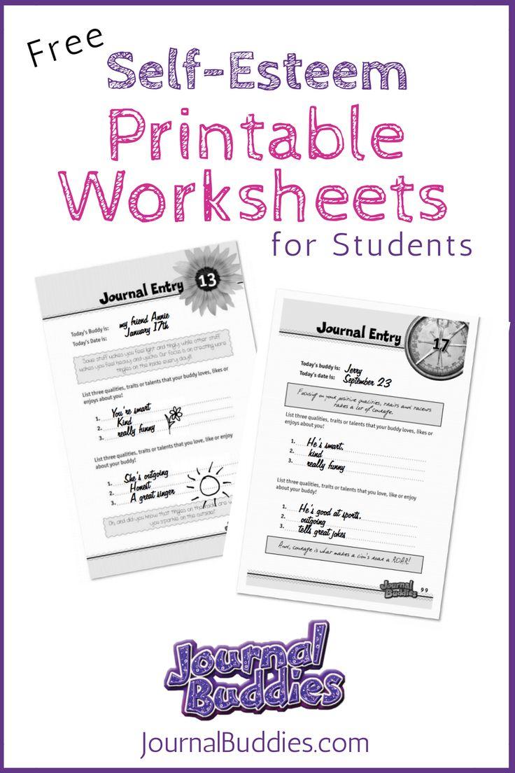 Free Printable Self Esteem Worksheet for Kids | Creative ...