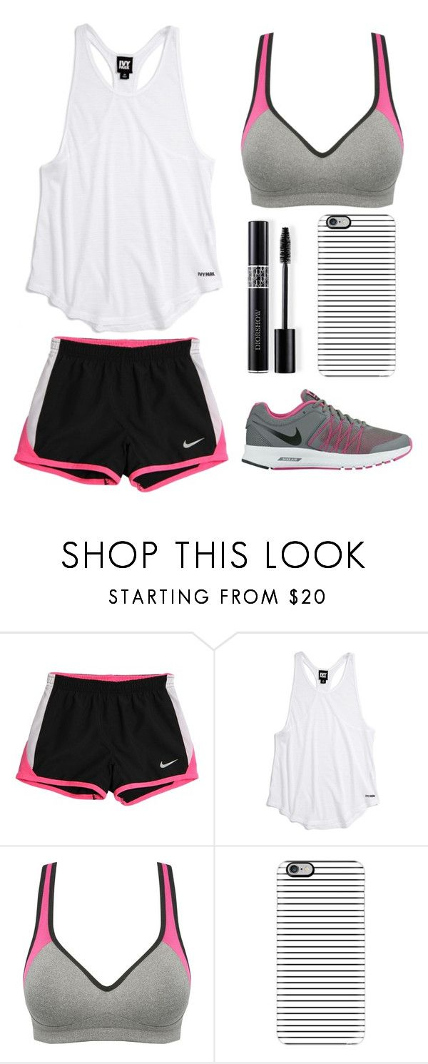 """""""Today was my science final😅"""" by lfrye2080 ❤ liked on Polyvore featuring NIKE, Ivy Park, Naturana, Casetify and Christian Dior"""