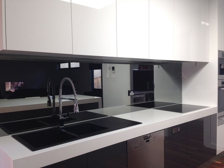 Toughened Grey Ash Mirror Toughened Mirror Splashbacks