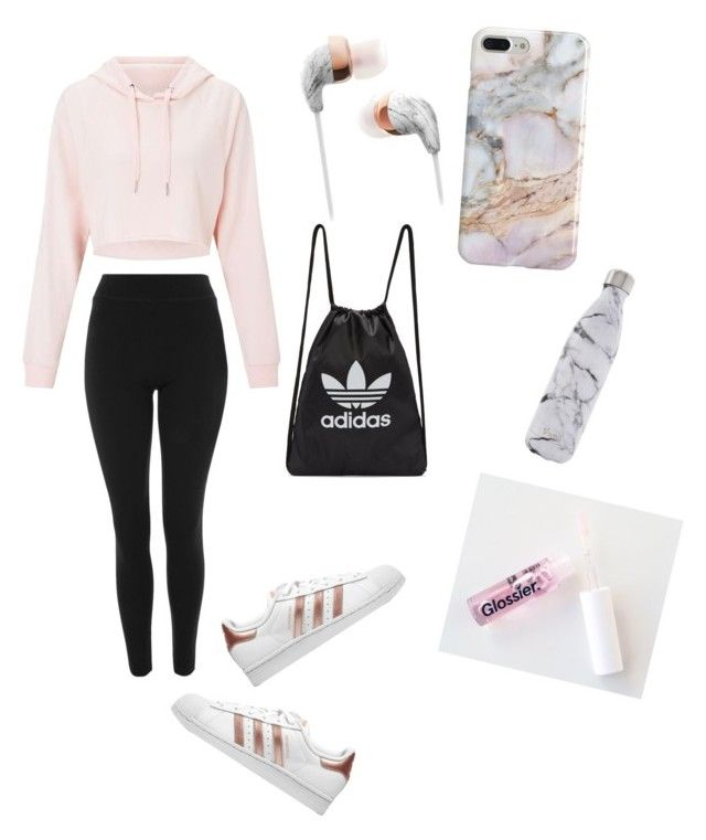 """""""Untitled #85"""" by haileymagana on Polyvore featuring Miss Selfridge, Topshop, Recover, adidas Originals and S'well"""