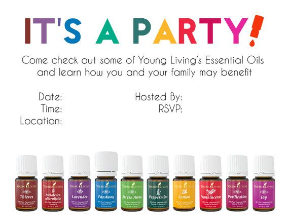 Young Living Essential Oils Party Class Invitation by OilPalooza