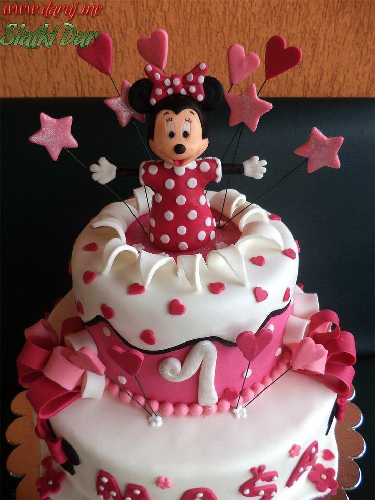 Minnie Mouse Cake Mini Torta Cakes Cupcakes Petit