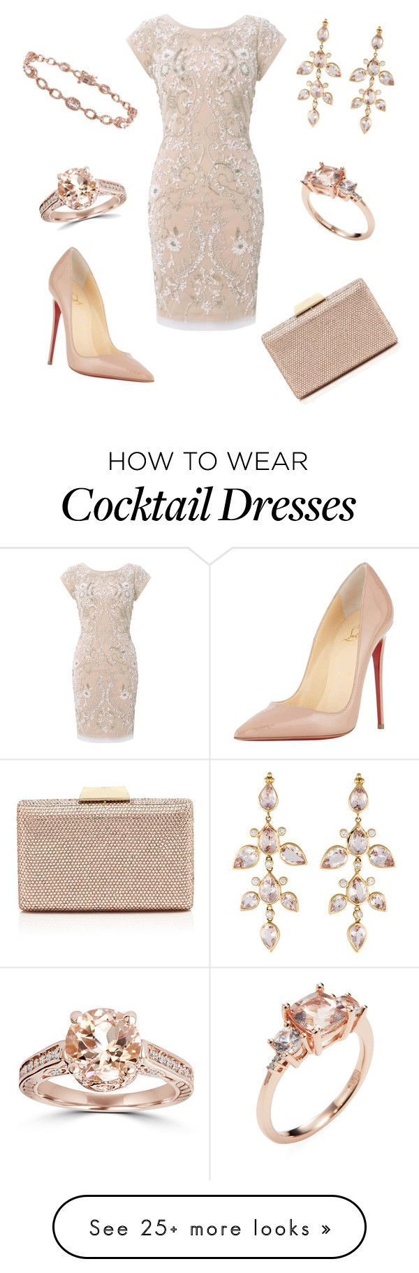 """At the Ballet"" by nmccullough on Polyvore featuring Aidan Mattox, Christian Louboutin, Sasha, Bliss Diamond, Rina Limor, women's clothing, women, female, woman and misses"