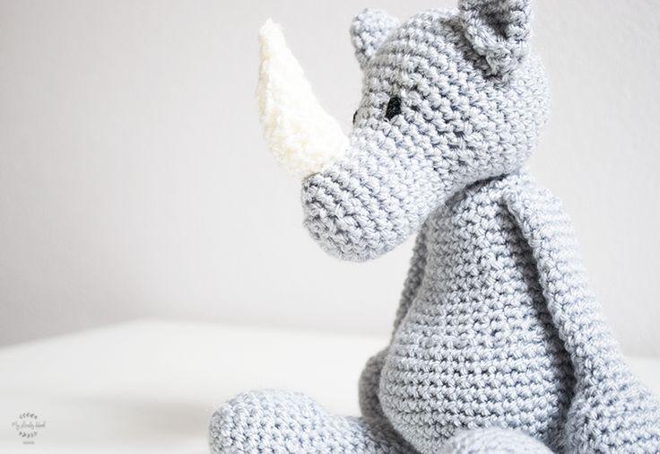 Austin the rhino crochet toy amigurumi pattern from Edward's Menagerie book