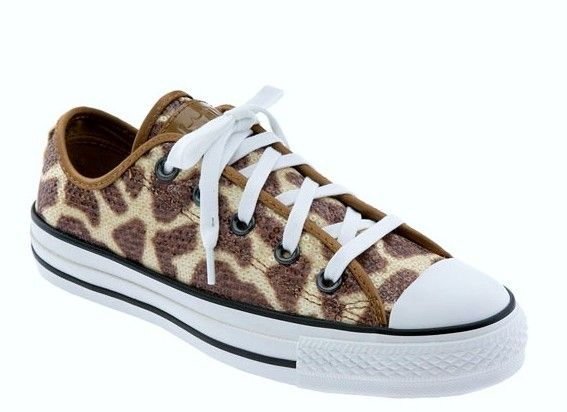 Chuck Taylor Giraffe Print Sequins Converse Low Tennis Shoes XTRA Laces NWOT WMS @Ana Horan