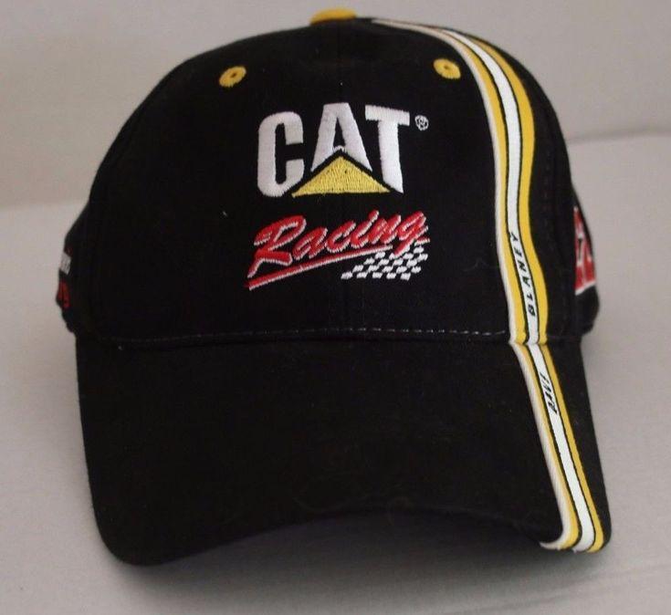 Nascar CAT Racing Dave Blaney Hat Cap Bill Davis Racing Embroidered Signature #NASCAR #BaseballCap