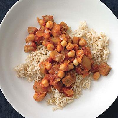 eggplant, tomato, and chickpea stew | CSA Veggie recipes | Pinterest