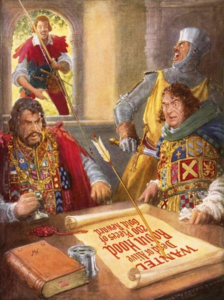 Robin Hood Humiliating Prince John by John Millar Watt.