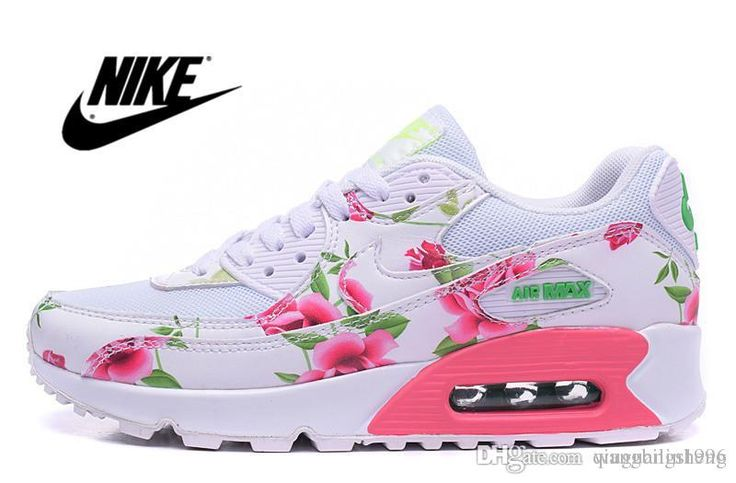 2016 New Nike Air Max 90 City Rose Flower Running Shoes For Women, Fashion Valentine'S Day Lon Tko Black Red Floral Eur 36 40 Sports Shoes Online Running Shop From Qiuguangsheng, $77.26| Dhgate.Com