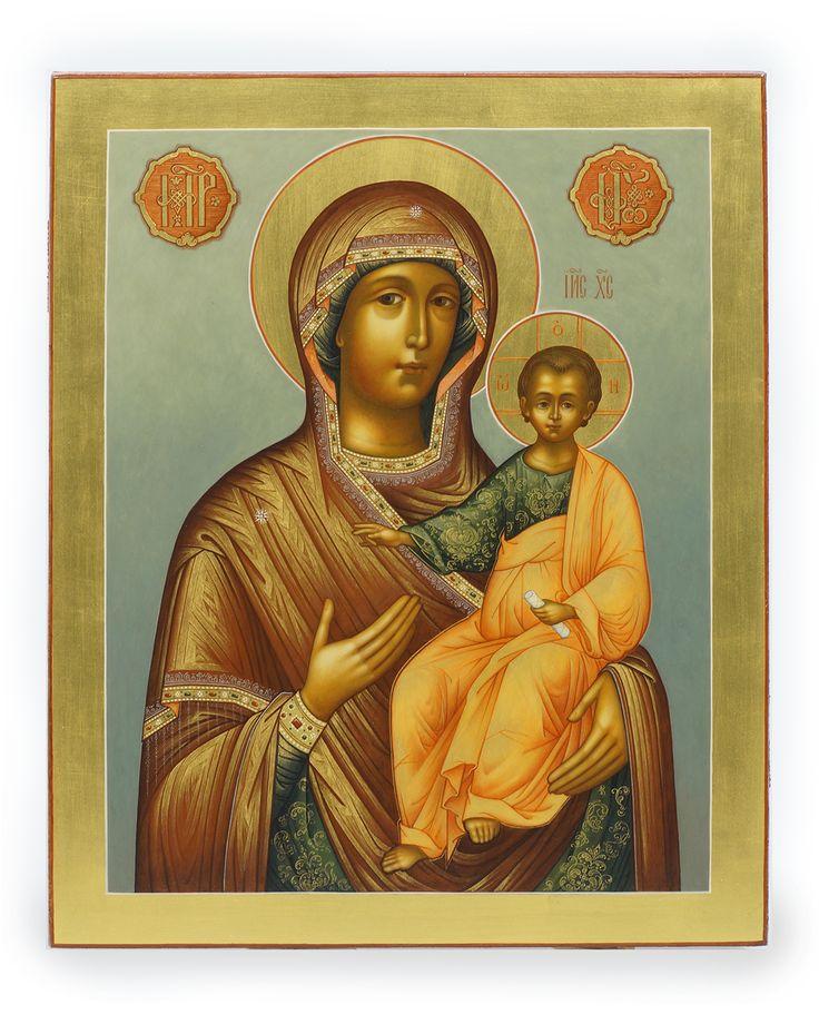 Смоленская икона Божией матери, художник Лакеева Е. Палех, 2016 год