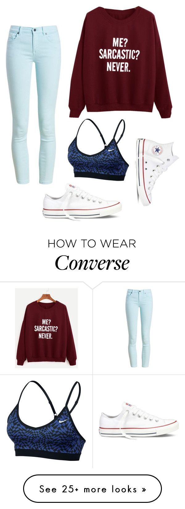 """""""Me? Sarcastic? Never."""" by rosasjennifer on Polyvore featuring Barbour, Converse, NIKE and converse"""