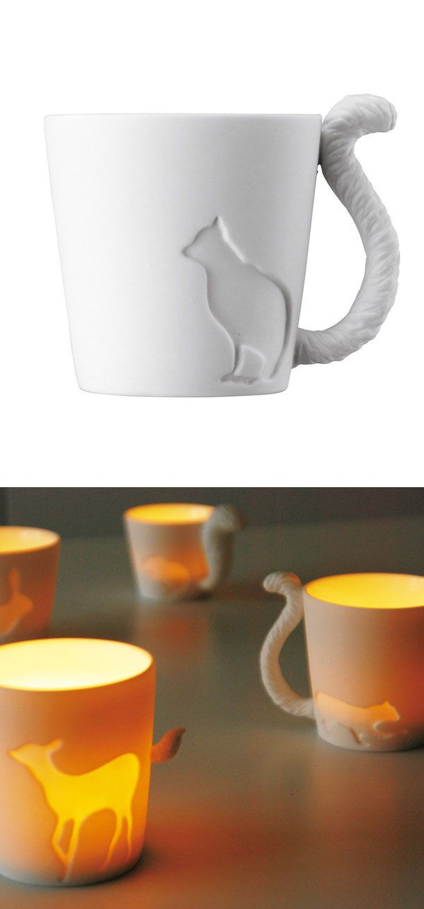 Kitty Mug - can be used as a votive too