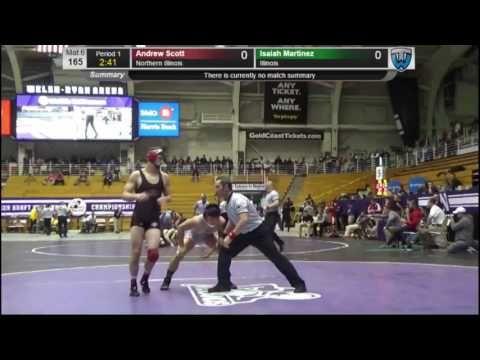 Isaiah Martinez (Illinois) vs Andrew Scott (Northern Illinois) - Midlands Wrestling