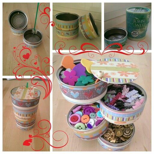 Reciclando latas de atun / Recycling tuna cans