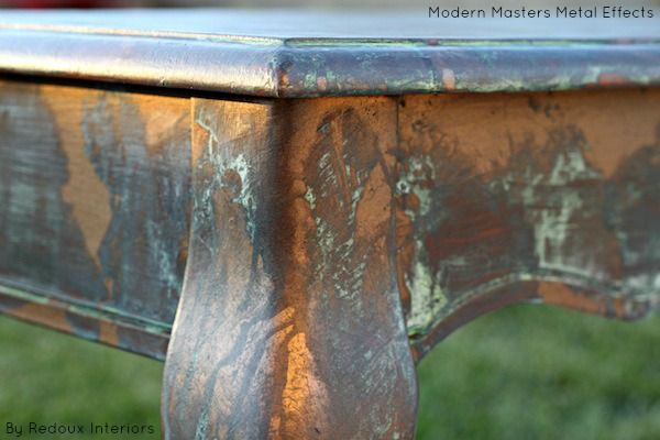 how to create rust effect on wood