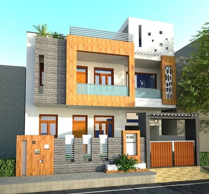 Two Floors House Duplex House Design House Architecture Styles Front Building Design