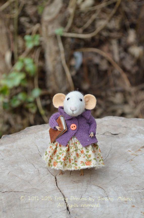 Little Sweety Mouse  Felting Dreams by feltingdreams on Etsy