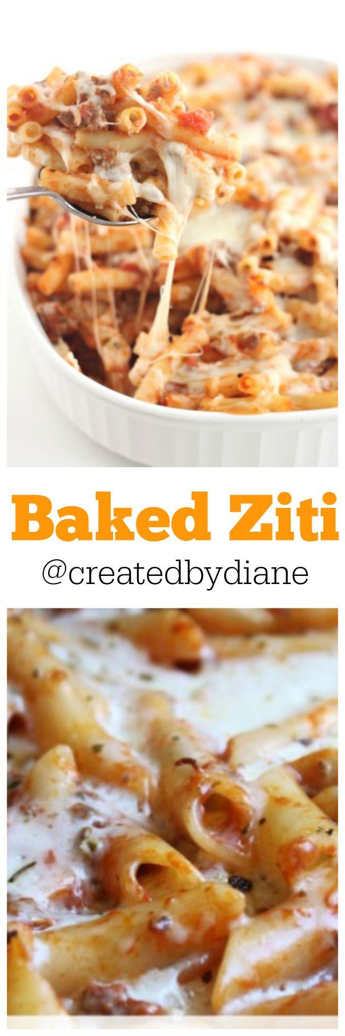 Baked Ziti from @createdbydiane