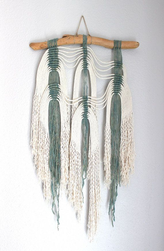 "Macrame Wall Hanging ""Waves no.3"" by HIMO ART, One of a kind Handcrafted Macrame, rope art"
