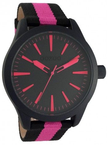 http://kloxx.gr/brands/brands-oozoo/oozoo-timepieces-black-fucshia-fabric-strap-c6729
