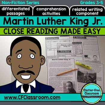Martin luther king jr writing activities for third grade