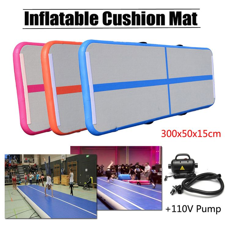Air Track Tumbling Gymnastics Inflatable Training Mat GYM Floor Home + 110V Pump #Meco
