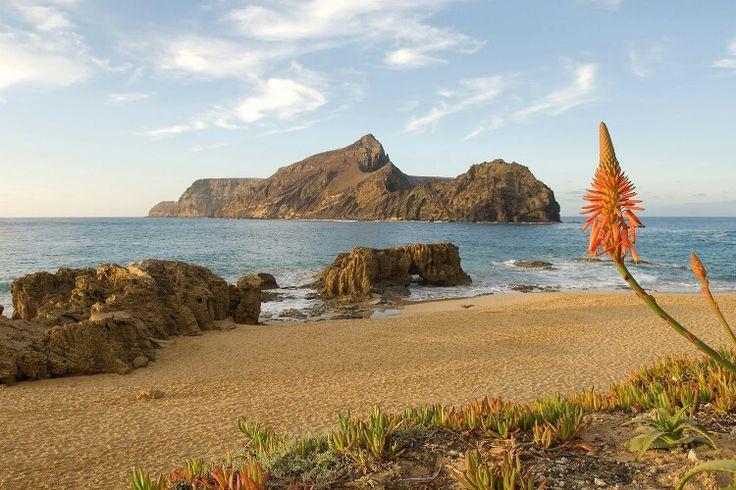 Praia de porto santo,madeira portugal.