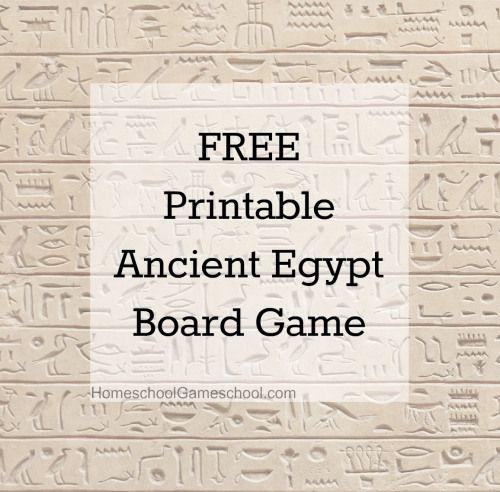 FREE printable Ancient Egypt Game #homeschool #game