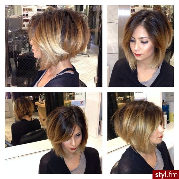 Cute stacked bob