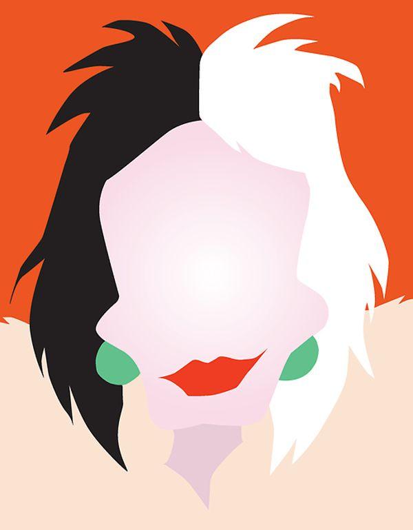 Cruella De Vil - Minimalist Disney Villian posters by Chelsea Mitchell