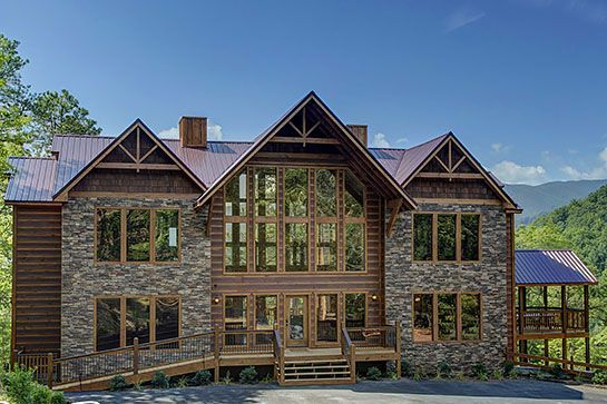 9 Mansions To Rent For A Dirt-Cheap Friends Getaway  #refinery29  http://www.refinery29.com/large-vacation-rentals-to-rent#slide-25  Pigeon Forge, TennesseeTennessee may not be the first place that comes to mind for a vacation. But this gorgeous Pigeon Forge home, which overlooks the Smoky Mountains, is one reason why it should. Total price: $920/nightSleeps: ...