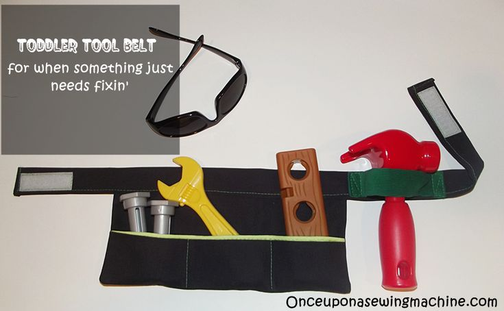 DIY Tool Belt for your Fix It Up Toddler
