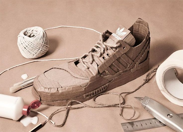 cardboard shoes by Chris Anderson