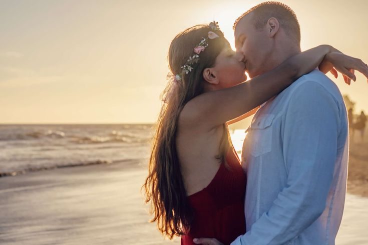 #affection #backlit #beach #couple #dawn #dusk #fun #happiness #kiss #kissing #love #man #ocean #outdoors #people #romance #romantic #sand #sea #seashore #summer #sun #sunset #togetherness #travel #water #waves #woman #young