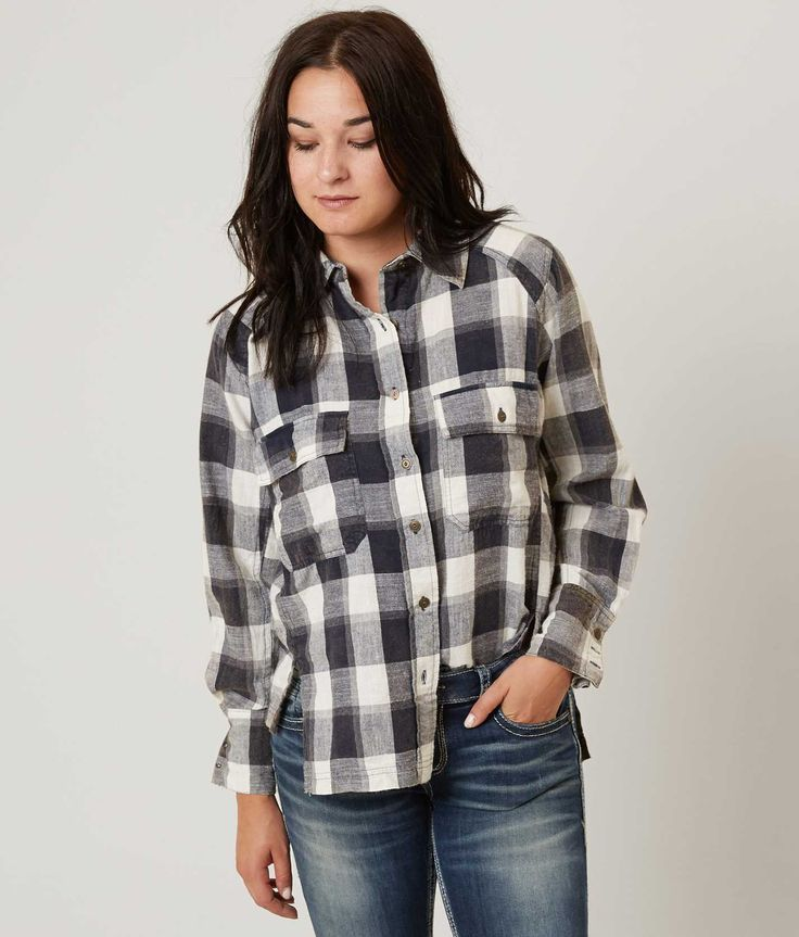 Gilded Intent Plaid Shirt - Women's Shirts/Blouses in Navy White | Buckle