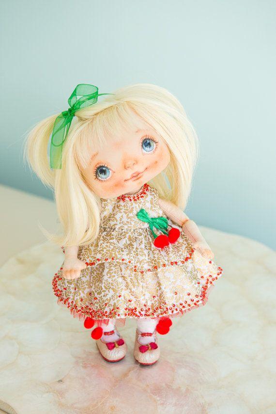 OOAK rag doll fabric doll cloth interior doll от AliceMoonClub